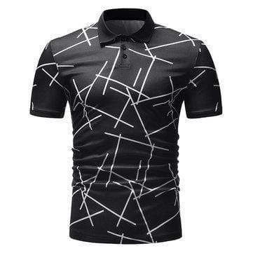 Printed Slim Fit Casual Golf Shirt