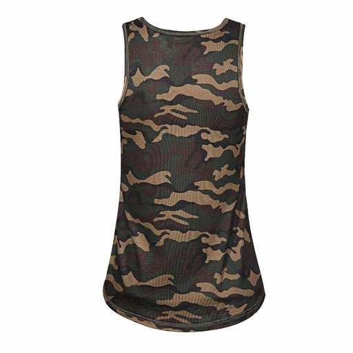 Women Camouflage Army Green Casual Tank Tops Sleeveless-T-Shirt-RealBigBuy