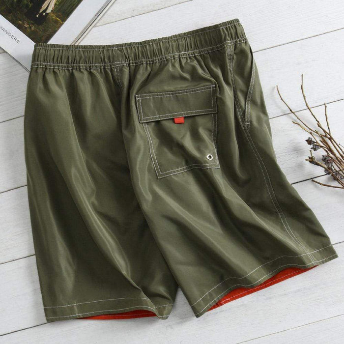 Quick Dry Solid Color Board Shorts