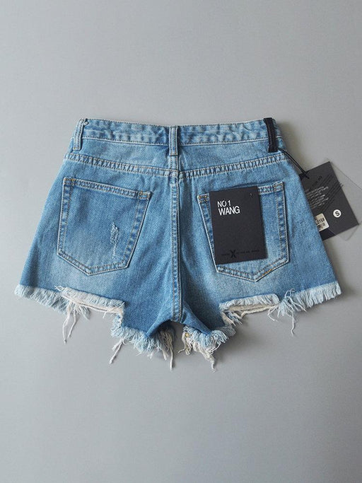 Ripped Hole Mini Hot Jeans
