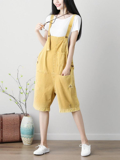 Ripped Overall Jumpsuits