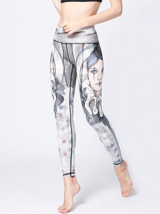 Sexy Clown Printed Stretch Workout Leggings