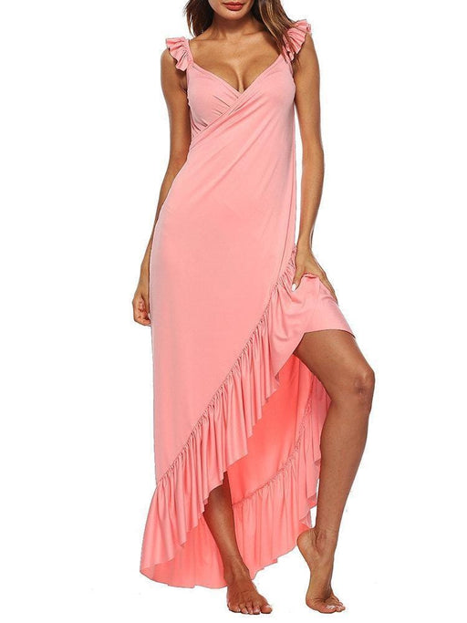 CN Sexy Dresses Wine Red / S Sexy Beach Backless Maxi Dresses