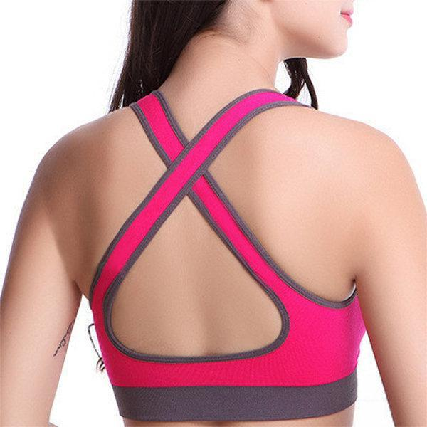 Sexy Seamless Wireless Sports Bras Shockproof Breathable Stretch Fitness Bras