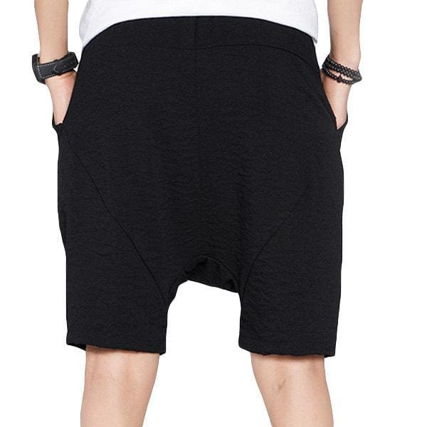 CN Shorts Black / M Solid Color Drawstring Baggy Casual Shorts