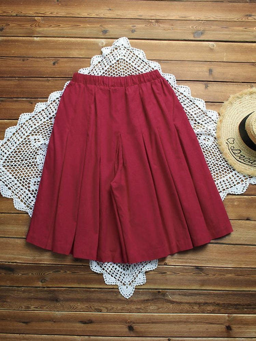 CN Shorts & Skirts Red / L Pleated Drawstring Shorts