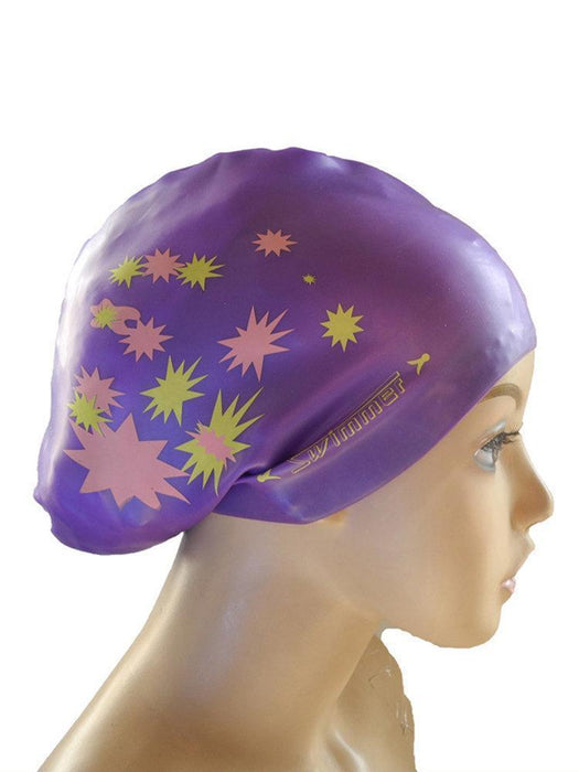 Silicone Long Hair Swimming Caps