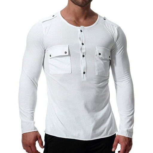 Simple Style Chest Pockets T-Shirts