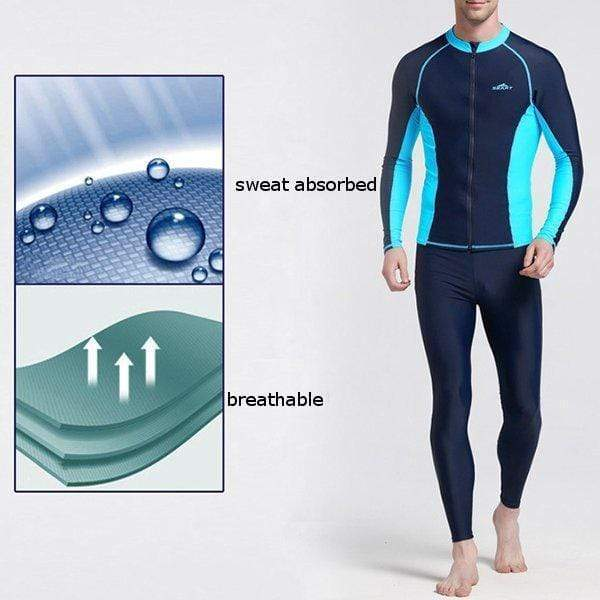 Skinny Patchwork Diving Zipper Sunscreen Jellyfish Suit Surf Tops Skinny Patchwork Swimwear For Men