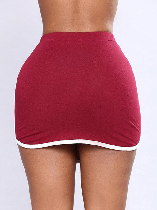 CN Skirts Red / S Simple Plain Mini Skirts