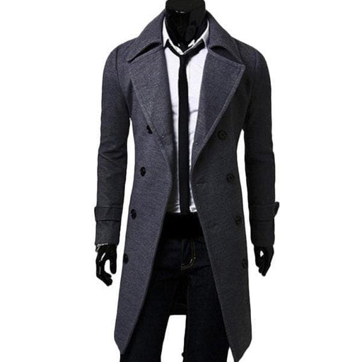 Slim Fit Wool Trench Coat