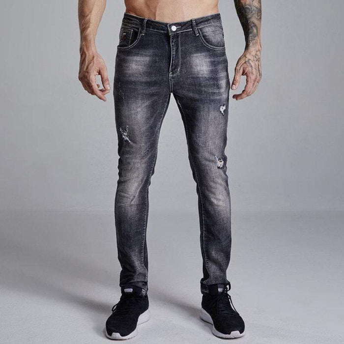 Slim Hip-Hop Ripped Jeans