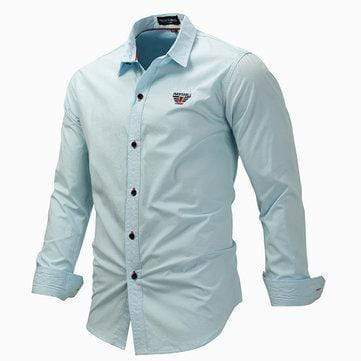 Solid Color Button Up Dress Shirt