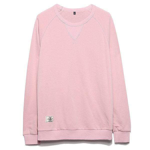 Solid Color Casual Cotton Sweatshirt