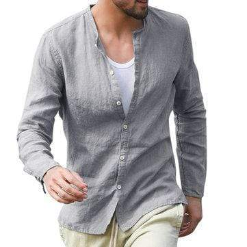 Solid Color Casual Loose Shirts