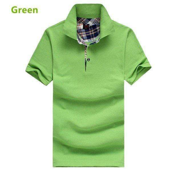 Solid Color Cotton Casual Golf Shirts