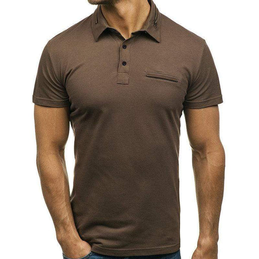 Solid Color Zipper Decorative Golf Shirt