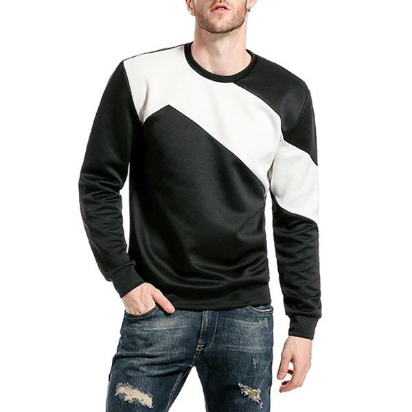 Stitching Color Casual Sweatshirt