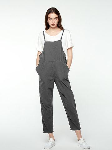 Strap Sleeveless Simple Jumpsuits