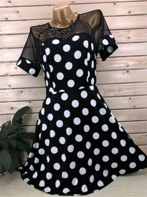 Strapless Polka Dot Lace Sexy Dresses