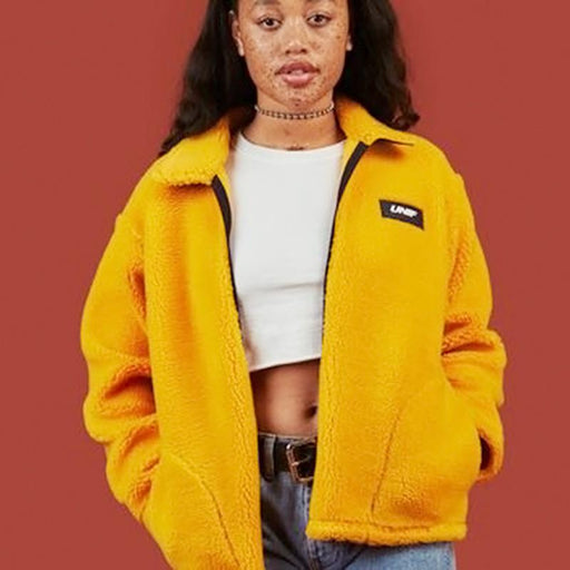 Street Teddy Bear Turmeric Plush Women' Jacket