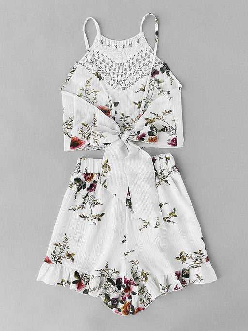 CN Suits & Co-ords White / S Bohemian Printed Summer Beach Suits