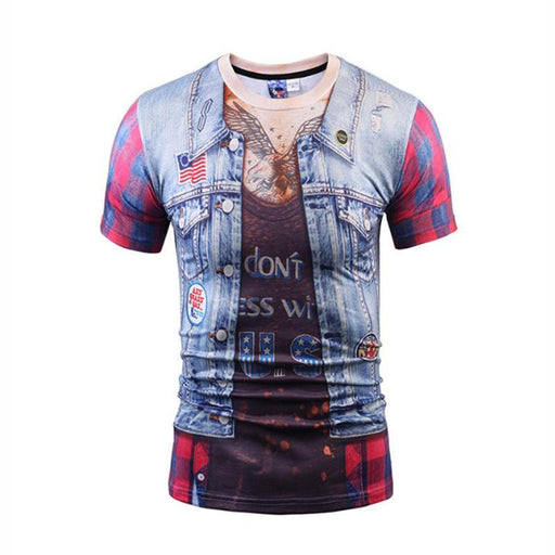 RealBigBuy T-Shirt Multi / L Casual Style Fake Short Sleeve T-shirt