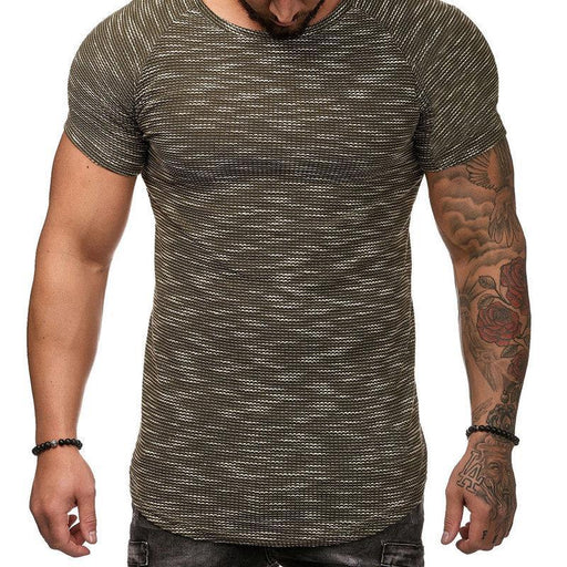 CN T-Shirts Black / L Breathable Solid Color Jacquard T Shirts