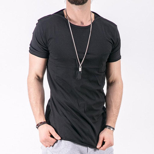 CN T-Shirts Black / S Breathable Side Zipper Black T Shirts