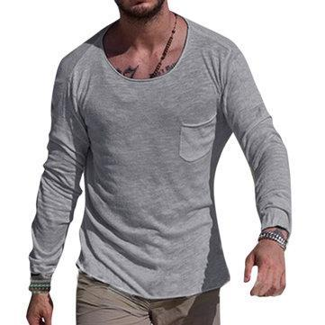 CN T-Shirts White / L Breathable Solid Color Pocket T-Shirts