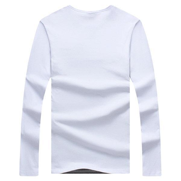CN T-Shirts White / M S-4XL Patchwork Casual Cotton T-shirt