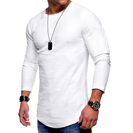 CN T-Shirts White / S Breathable Solid Color Casual T Shirts
