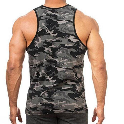 CN Tops Red / L Camouflage Slim Fit Workout Tank Tops