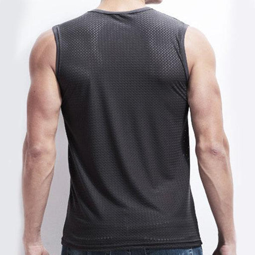 CN Tops White / L Breathable Ice Mesh Sleeveless Tops