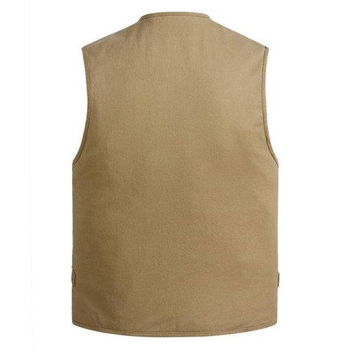 CN Vests Beige / XL Cotton Multi Pockets Vest