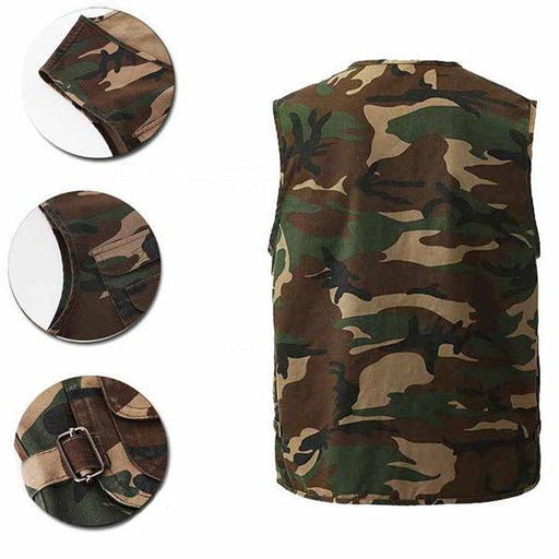 CN Vests Camouflage / L Camouflage Multi Pockets Vests