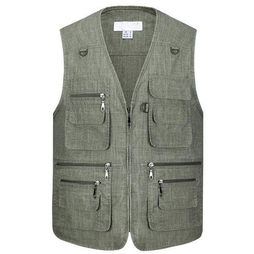 CN Vests Light Gray / XL Cotton Fishing Photography Vest
