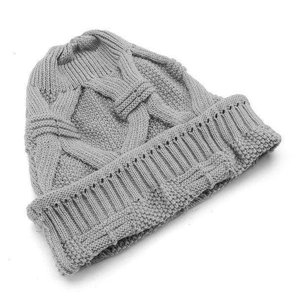 Women Casual Warm Knitted Beanie Hat
