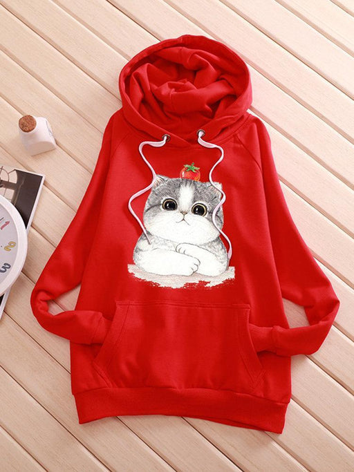 Women's Casual Cat Hooded Sweatshirts