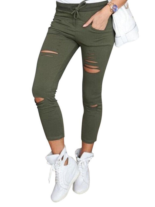 Women's Casual High Waist Drawstring Pants