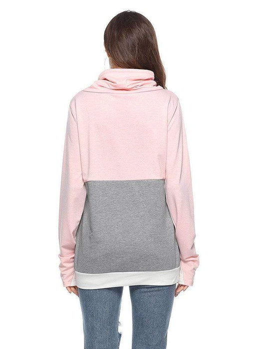 Women's Casual Patchwork Hooded Sweatshirts