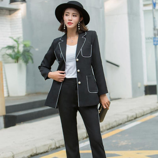 Women's Lapel small suit
