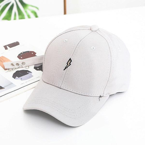 Women Unisex Cotton Lightning Pattern Baseball Hat Casual Long Belt With Rings Hip Hop Caps