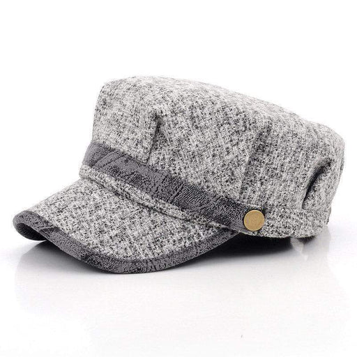 Women Vintage Knitted Woolen Octagonal Berets Hats Casual Flat Caps Adjustable