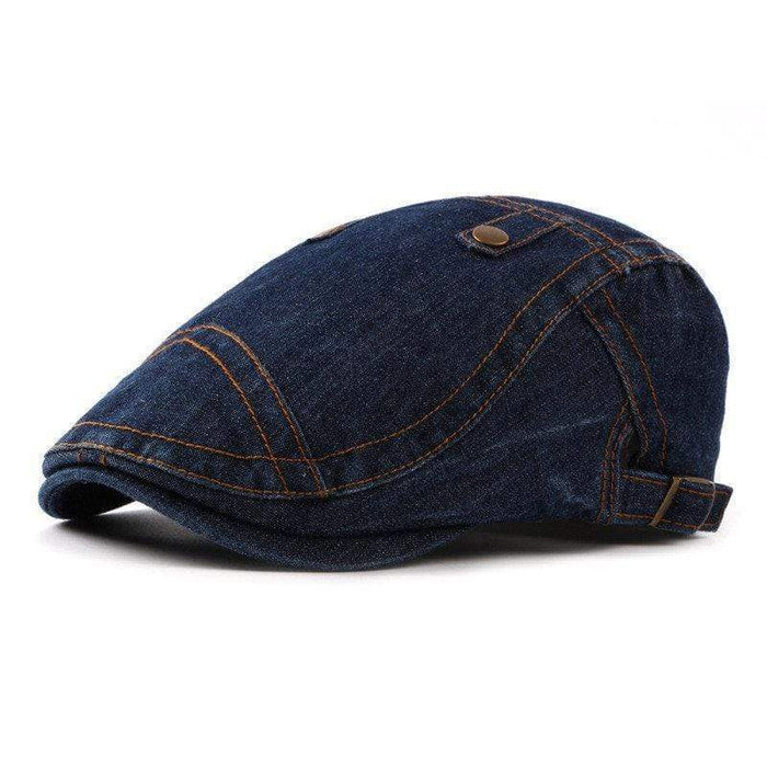 Women Vintage Washed Denim Beret Cap Travel Casual Breathable Baseball Hat