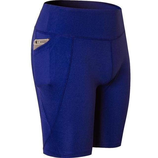 RealBigBuy Womens Shorts 1-Blue / L Women Workout Shorts With Pocket