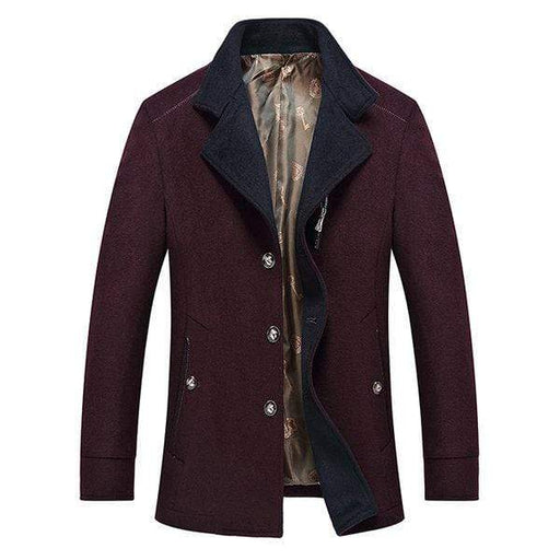 Wool Chest Pocket Casual Jacket