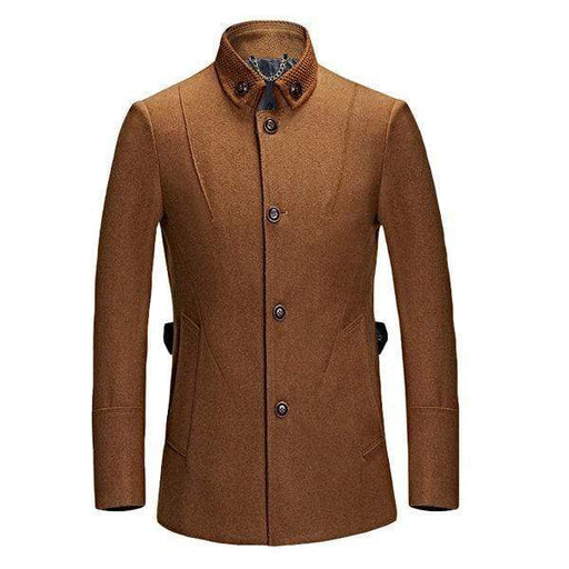 Wool Solid Color Slim Jacket