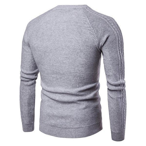 CN Yellow / L Mens Jacquard Knitted Sweaters