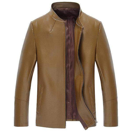 Zipper Cuff Faux Leather Jacket